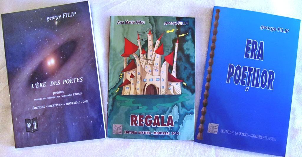 Afiş lansare 3 cărţi George Filip