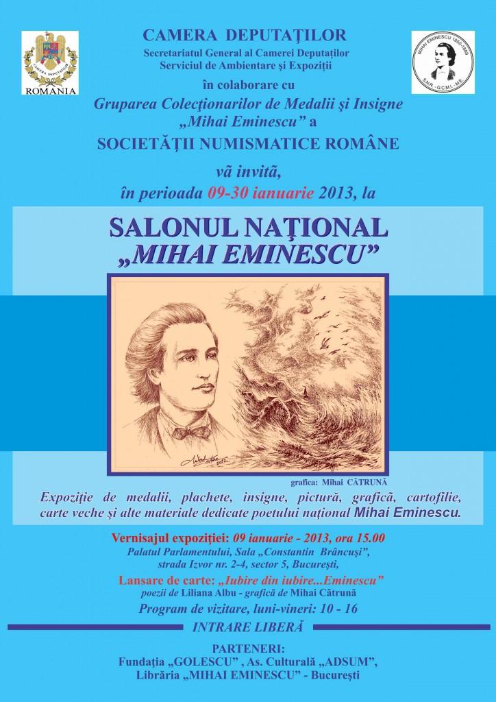 Afiş Vernisaj Mihai Eminescu 2013